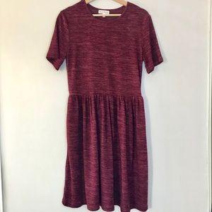 Stevie Hender Maroon Knit Short Sleeve Dress